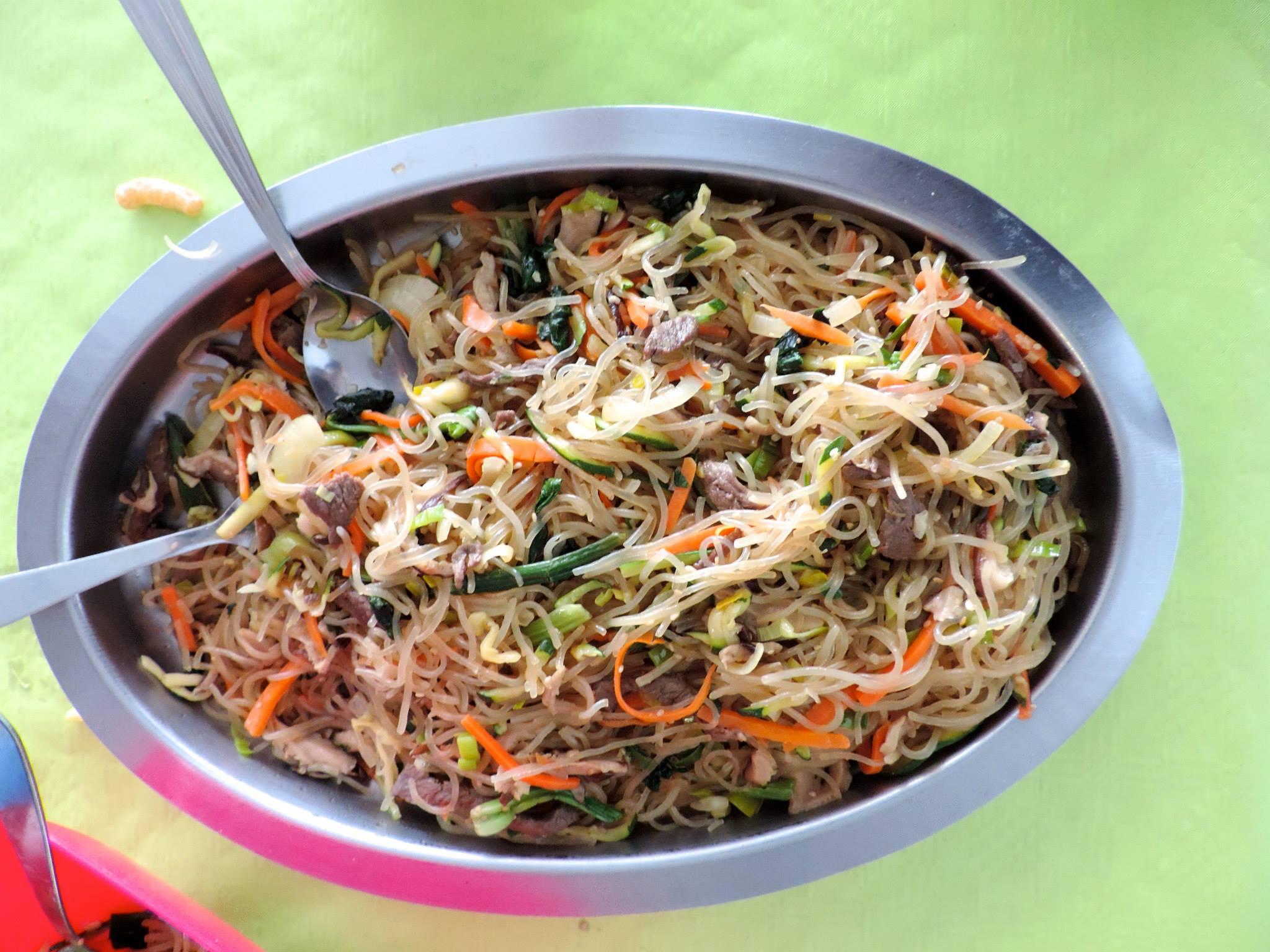 Korea breizh cours de cuisine japchae aux champignons - Cours de cuisine bretagne ...